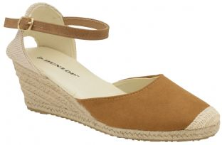 Dunlop Womens Rana Tan Wedge Sandals
